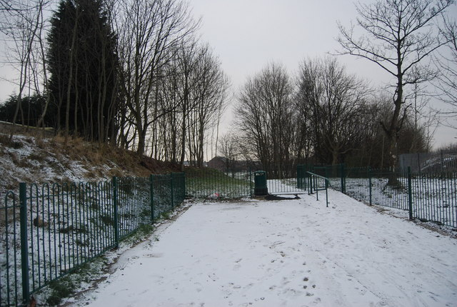 Entrance to Whitehead Park, Ainsworth Rd