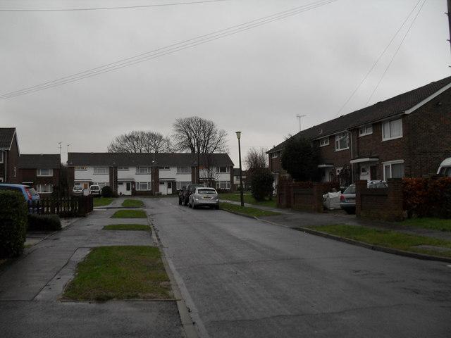 Looking along Canterbury Road towards Guildford Road