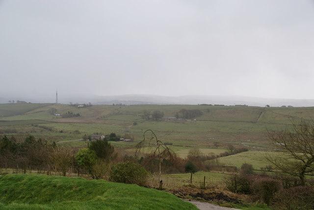 View across Sabden Brook
