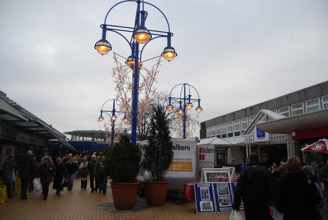 Lamp post, The Square, Bury Market