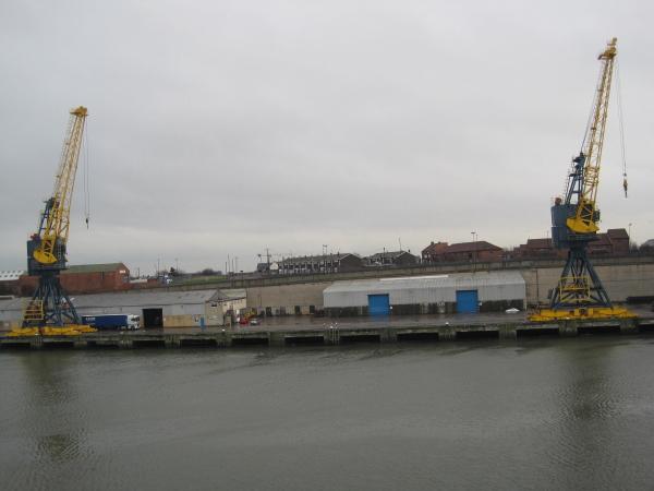 Cranes on Corporation Quay, River Wear