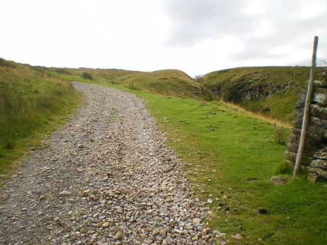 Old Roman road Carpley Green