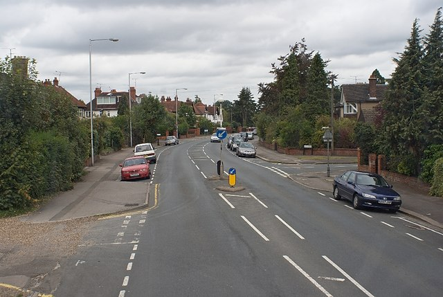 Wokingham Road at corner of Earley Hill Road