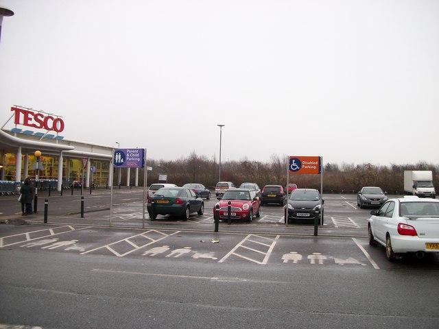 Car Park at Tesco Supermarket, Coggeshall Road