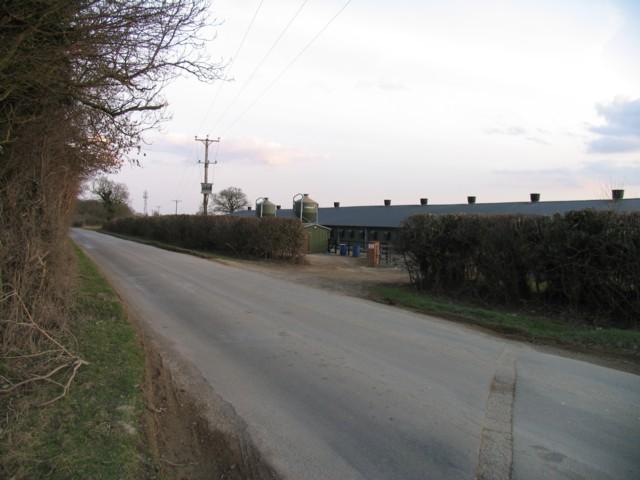 Buildings near to Greetham Wood Near
