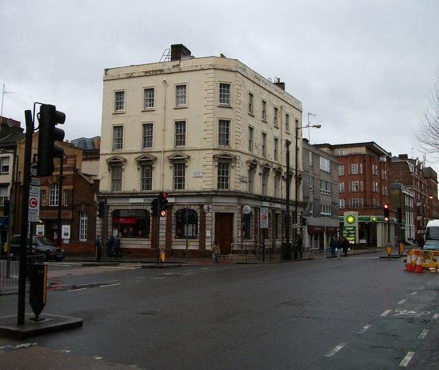 HSBC Bank at junction of Vauxhall Bridge Road and Warwick Way