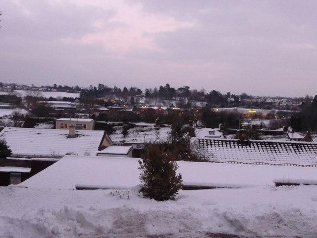 Tiverton: snow view of Tiverton