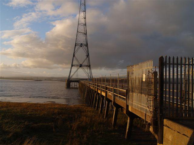 Pylon along side the Severn bridge