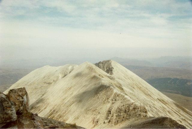 The eastern end of the Beinn Eighe ridge