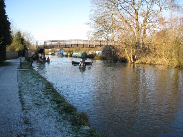 Kennet and Avon Canal: The New Monkey Bridge, Newbury