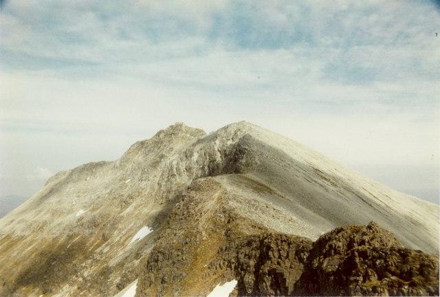 Spidean Coire nan Clach from the west ridge
