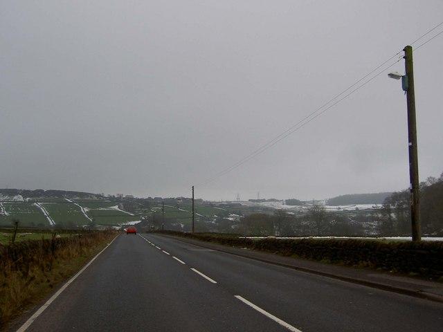 Looking East on Cullingworth Road