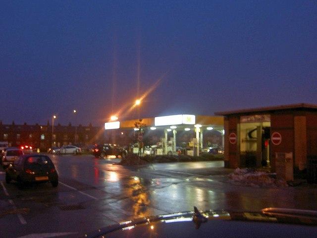Morrison's supermarket car park and petrol station Odsal, Bradford