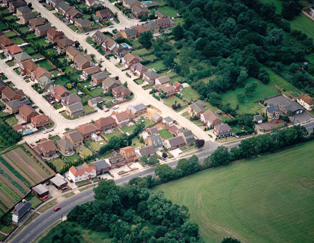 Aerial view of the eastern end of The Chase, Thundersley