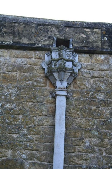 Downpipe on the church