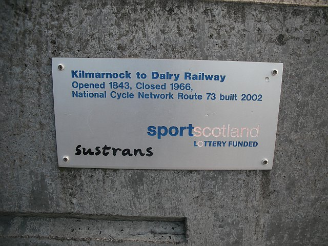 Plaque, National Cycle Network, route 73