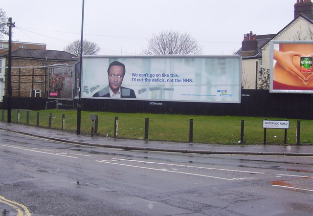 Poster on Waterloo Road close to the junction with Shirley Road