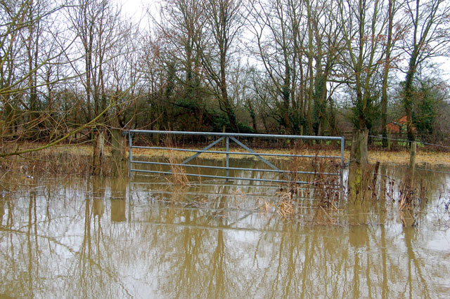 River Itchen in flood at Long Itchington (5)