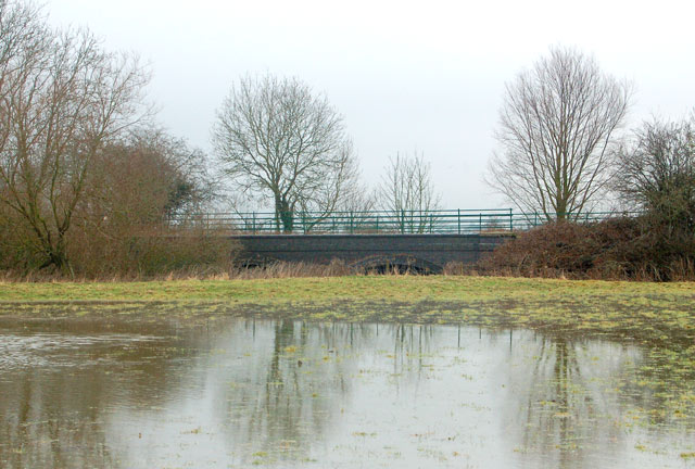 River Itchen in flood beside old railway, Stonebridge Lane