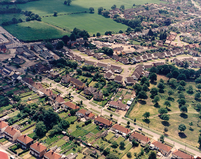 Aerial view of Kingsley Lane and Sandown Road, Thundersley
