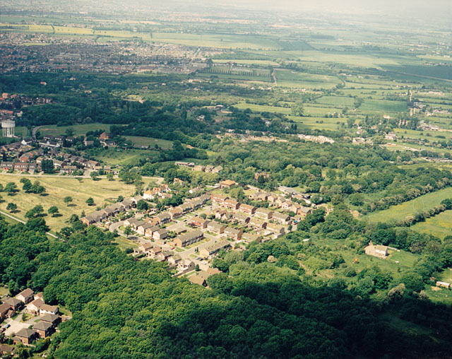 Aerial view of the 'Finches' estate, Thundersley