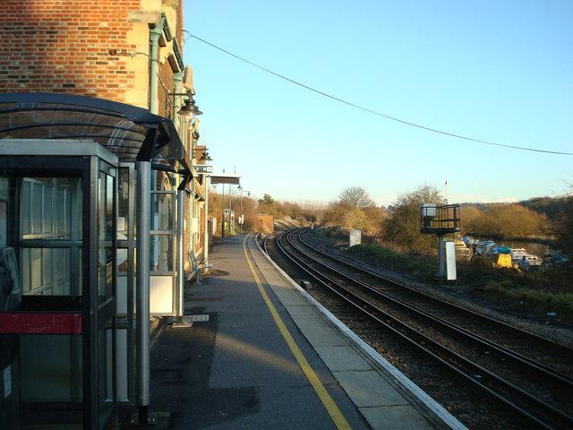 Railway line at Wateringbury