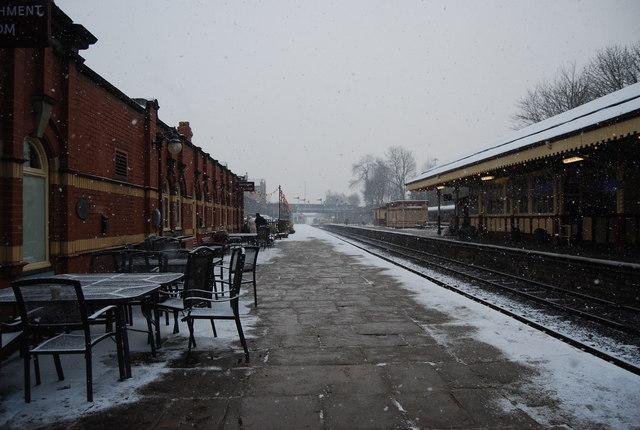 Empty platform, Bury Bolton Street Station