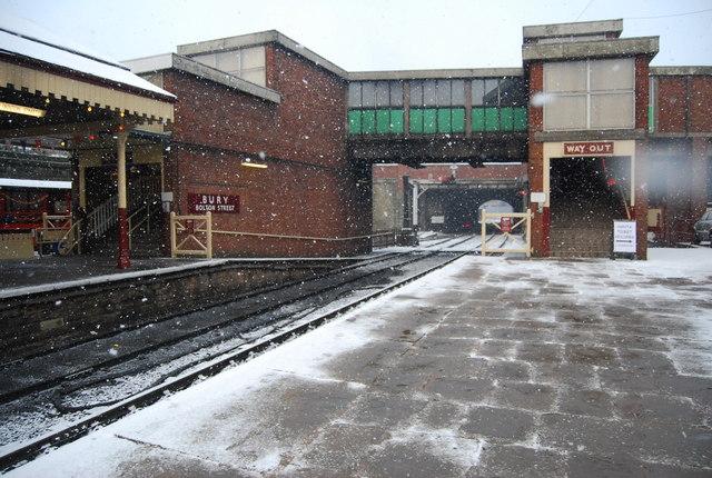 Station buildings, Bury Bolton Street Station