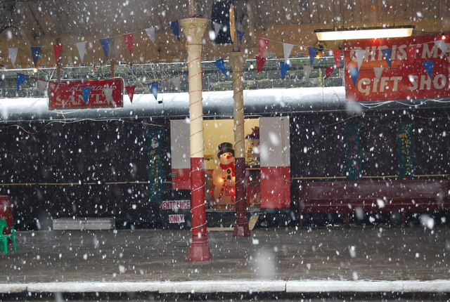 Santa Special in the snow, Bury Bolton Street Station