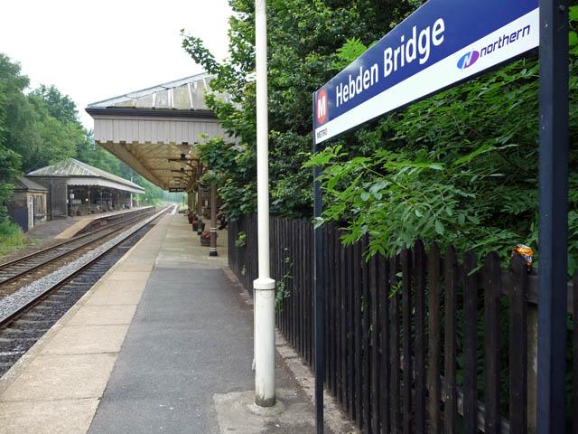 Platform 1, Hebden Bridge station