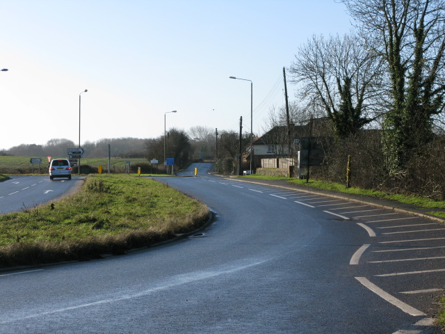The A20 from the junction with Stone Street