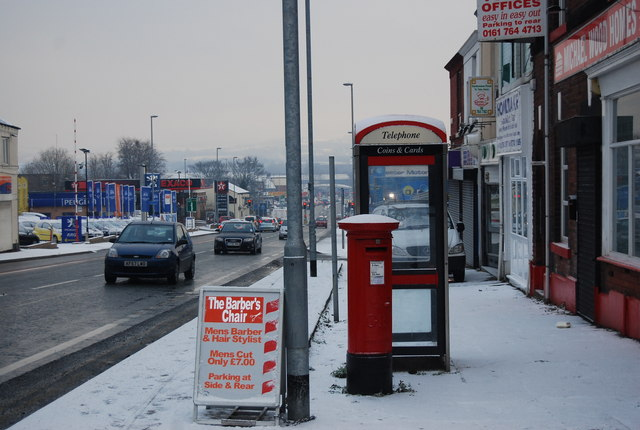 Postbox & Telephone Box, Bolton Rd