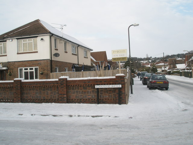 Looking from Mansvid Avenue up Tregaron Avenue