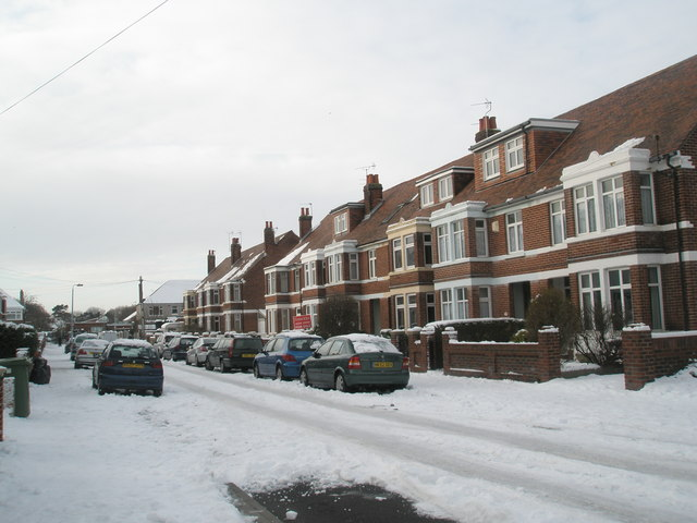 Mansvid Avenue after heavy snow