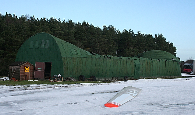 Collapsed Hangar