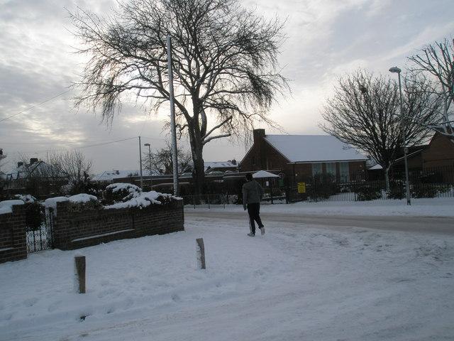 Lone pedestrian in Court Lane