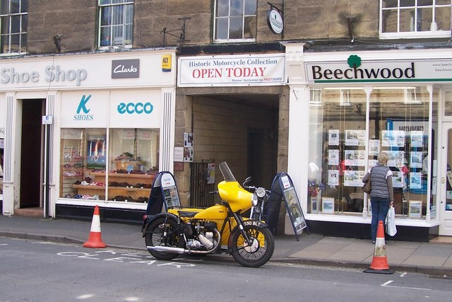 Cones at the Motorcycle Museum, Bakewell