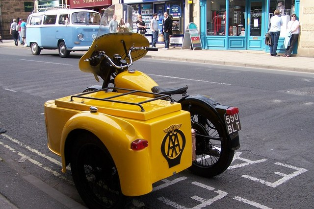 Vintage AA Motorcycle Combination, Bakewell - 3