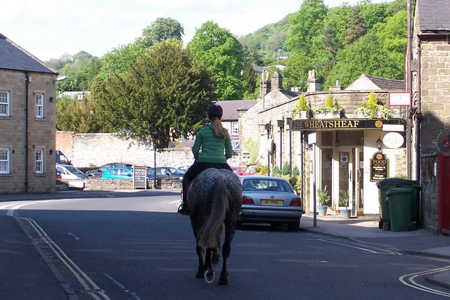 Get on your horse and get out of town, Anchor Street, Bakewell