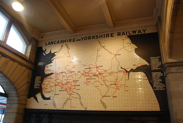 Lancashire & Yorkshire Railway map, Victoria Station