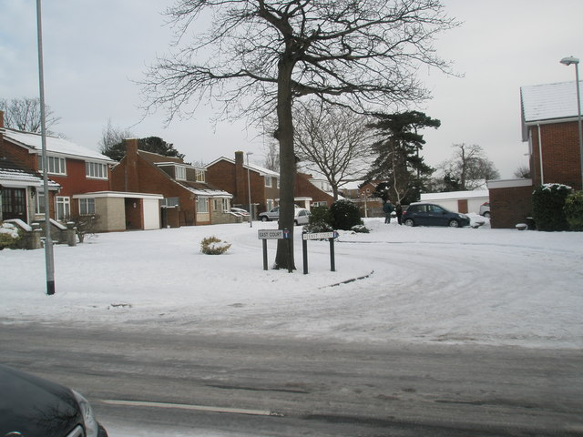 East Court in the January snow