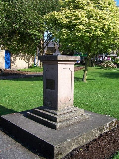 Memorial Sun Dial, Bath Gardens, Bakewell - 1