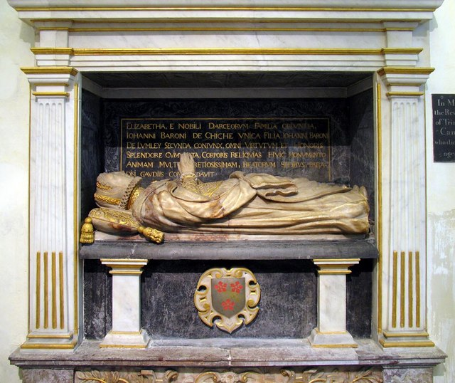 The Lumley Chapel, Cheam - Monument detail