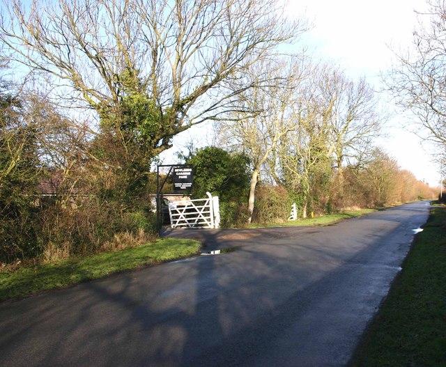 Entrance to Newlands Caravan Park