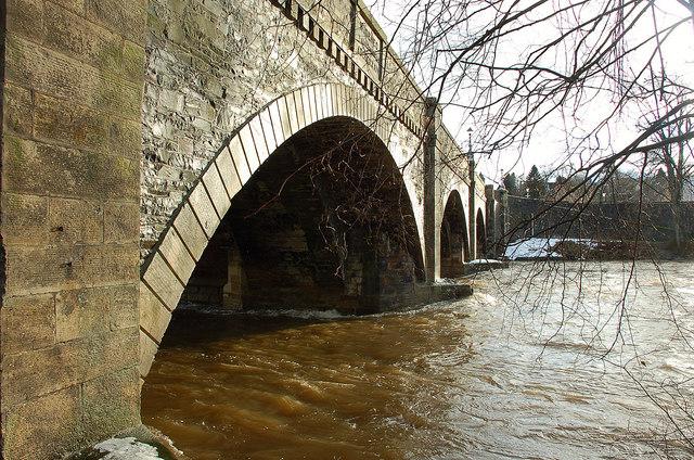 River Tweed back to normal, Peebles Bridge
