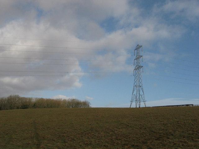Pylon near Pen-y-lan