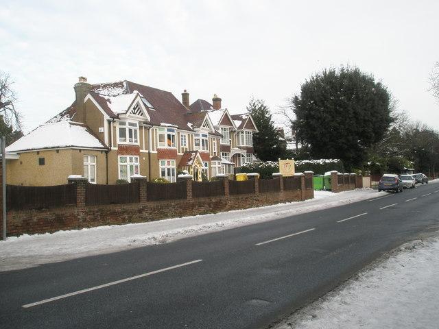 Nursery in a snowy Havant Road