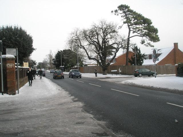 Looking from East Cosham Road along Havant Road