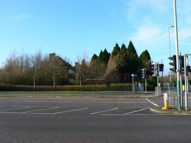 Across the hospital entrance, Marlborough Road, Swindon