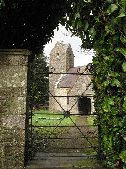Llansannor church and gate